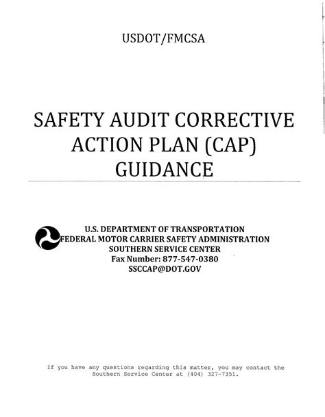 Safety Corrective Action Plan Template Download Free Premium Templates Forms Sles For Fmcsa Corrective Plan Template