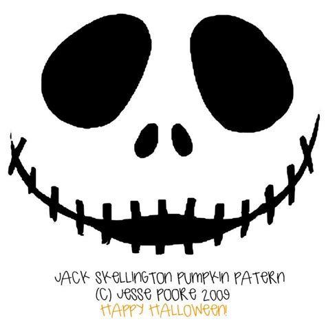 Jack Skeleton Nightmare Before Christmas Pumpkin Carving Pattern Halloween Nightmare Before Pumpkin Carving Template