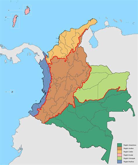 imagenes regiones naturales de colombia file mapa de colombia regiones naturales png wikimedia