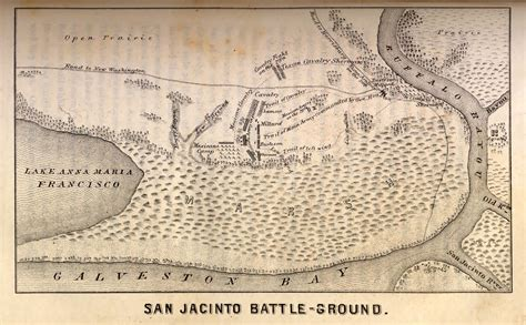 san jacinto texas map san jacinto battle map