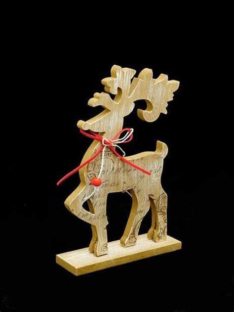 sleigh christmas crafts nordic wooden reindeer reindeer