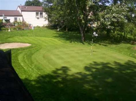 backyard putting greens synthetic turf of oregon golf