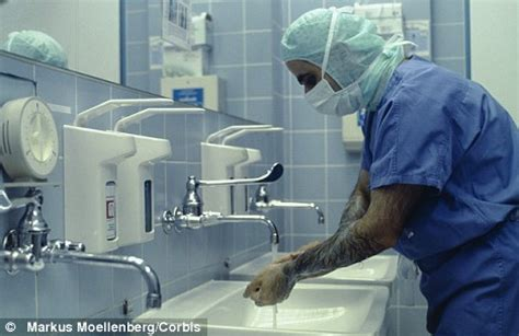 doctors to face the hand wash test daily mail online