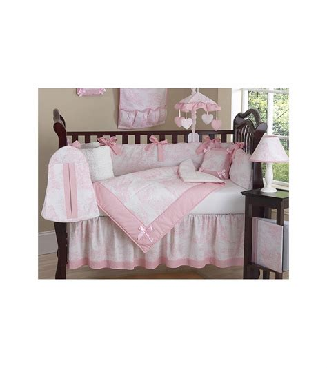 Pink Toile Crib Bedding Sweet Jojo Designs Pink Toile 9 Crib Bedding Set