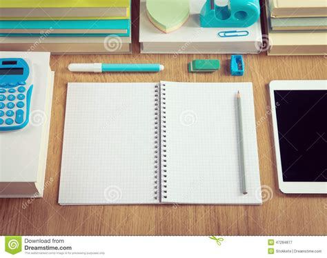 Tidy Student Desktop Stock Image Image Of College School Student Desk Top