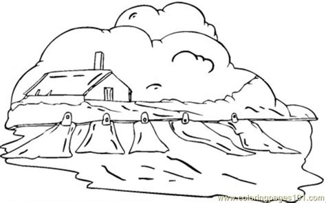 country house coloring pages country house in the clouds coloring page free houses