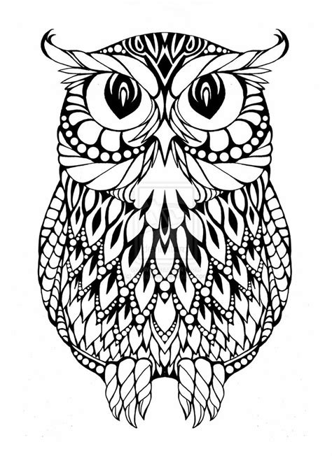 coloring pages for adults owls 1000 images about pattern owls on coloring