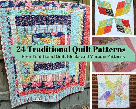 Popular Quilt Patterns 24 traditional quilt patterns free traditional quilt
