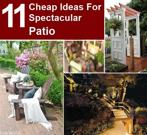 Cheap Places For Home Decor 11 Cheap Ideas For Spectacular Patio Diy Home Things