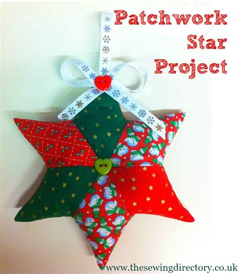 adorable patchwork christmas star to sew with free project