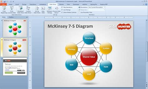 free mckinsey 7 s diagram powerpoint template free