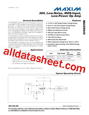 maxim integrated products phone number max9945att datasheet pdf maxim integrated products