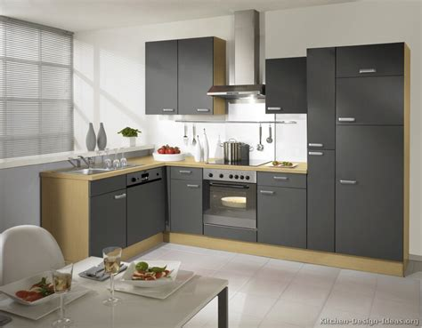 Grey Kitchen Cabinets Pictures Of Kitchens Modern Gray Kitchen Cabinets
