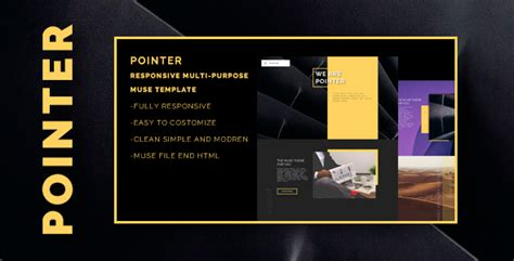Pointer Responsive Multi Purpose Muse Template By Bsvit Themeforest Free Muse Templates Responsive