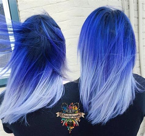 bright color ombre hairstyles bright blue ombre hair www imgkid com the image kid