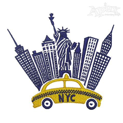 embroidery design ny new york city street embroidery design