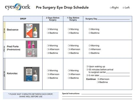surgery schedule template beautiful eye form template pictures inspiration