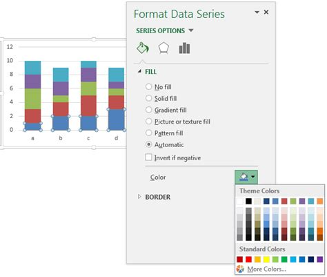 excel 2007 format data series gradient fill using colors in excel peltier tech blog
