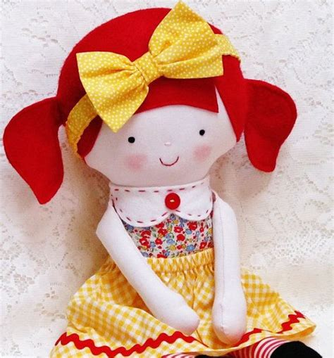 pattern fabric doll soft doll pattern pdf instant download softie soft toy