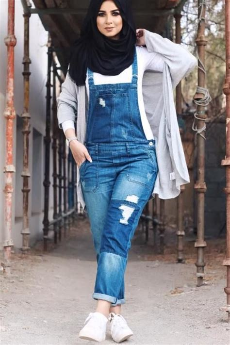Dress Jumpsuit Muslim Wanita Melly 1 dungarees dress with for style fashion ideas