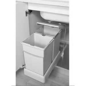 poubelle rectangulaire 2x14l 8077221 la quincaillerie du