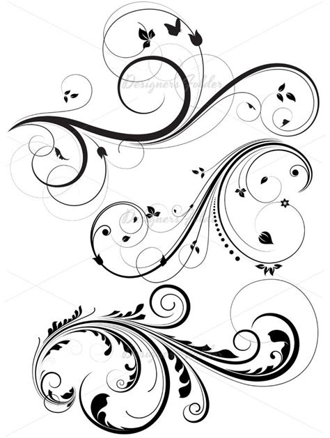 flower swirl tattoo designs 25 best ideas about swirl on