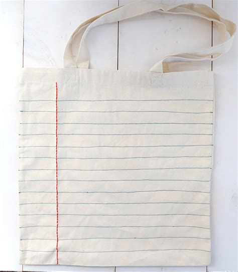 How To Make Notebook Paper Look - 30 diy tote bags to create at home