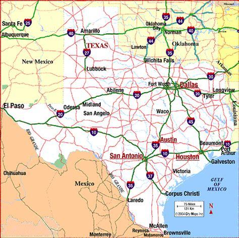 texa map highway map of aaccessmaps