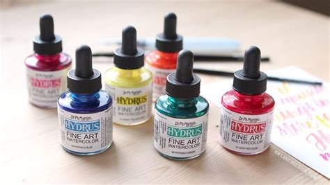 liquid water colors dr ph martin s hydrus liquid watercolor diy palette