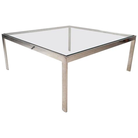 mid century modern chrome coffee table for sale at 1stdibs
