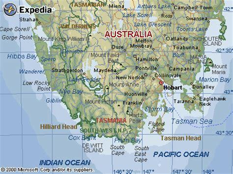 southern australia map map of southern tasmania australia