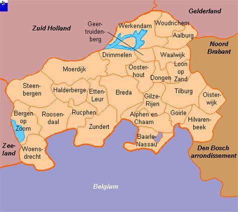 brabant netherlands map clickable map of west brabant breda arrondissement