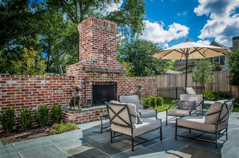 houston brick outdoor fireplace patio traditional with lanecrest traditional patio houston by thompson