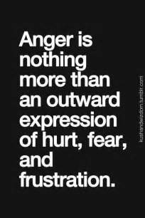 That doesn t have much to do with the hurt fear and frustration