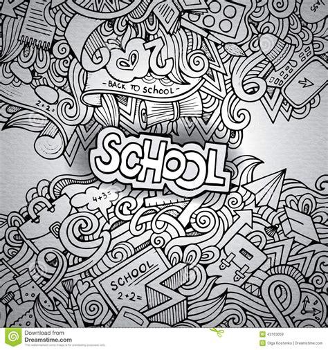 free doodle sketch vector vector doodles school stock vector