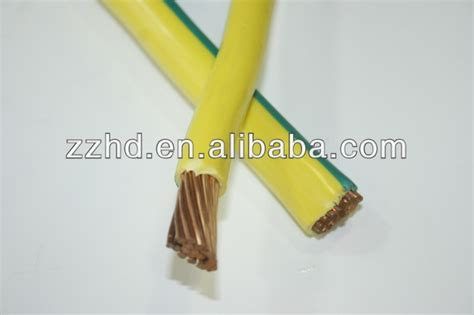 yellow and green color earth wire 240mm2 single copper