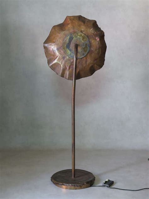 large and brutalist copper floor l for sale at