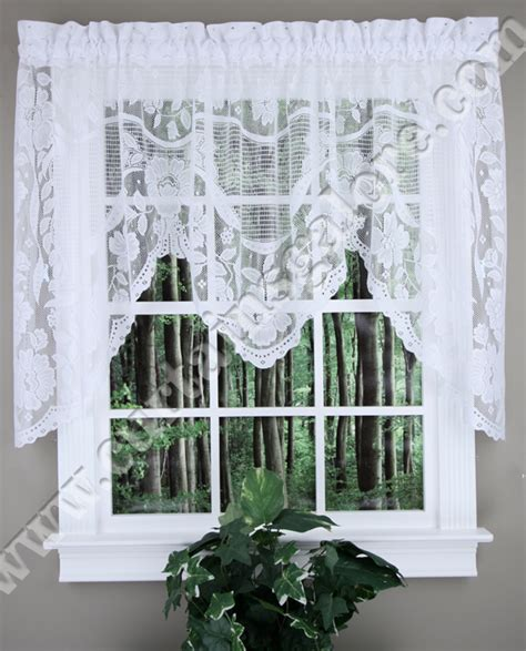 windsor lace curtains windsor swagger valance white united white curtains