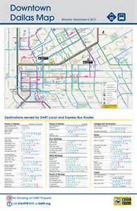 map of downtown dallas dart org downtown dallas routing and places of