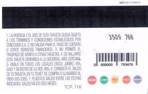 Gift Card Argentina - gift card prep 225 ga cencosud argentina trajeta cencosud col cencosud 001