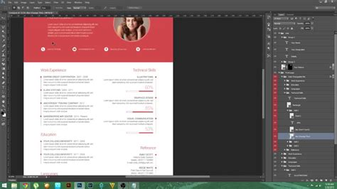 cv design tutorial psd tutorial material design resume youtube