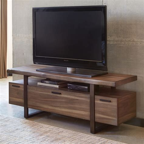 tv stands shop living atticus hazelnut tv cabinet at lowes
