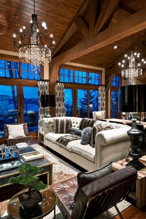 chic decor   ski chalet   appointed house