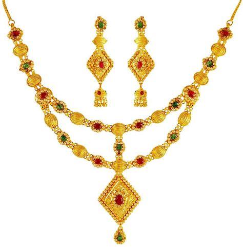 22 karat gold necklace earring set stgd20060 sets