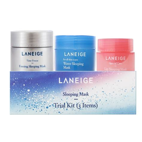 Laneige Trial Kit 3 Items bộ mặt nạ ngủ laneige sleeping mask trial kit 3 items