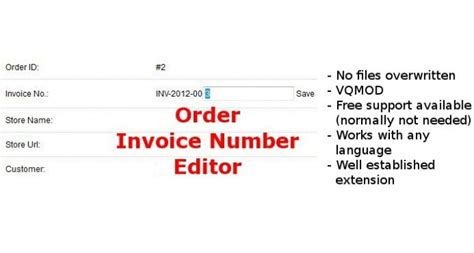 change invoice layout in opencart opencart edit invoice number