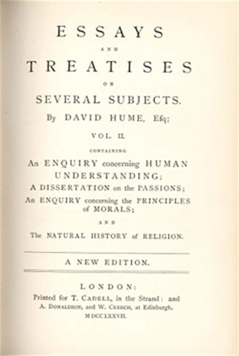 David Hume Essays by David Hume An Essay Concerning Human Understanding Writefiction581 Web Fc2