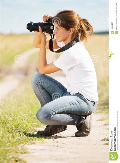 girl  photo  camera stock photo image  adult