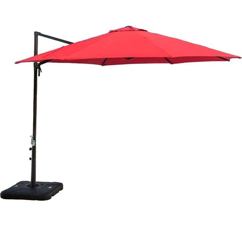 target offset patio umbrella hanover 11 ft cantilever patio umbrella in cantilever the home depot