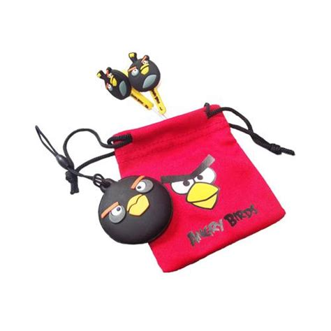 Angry Xl angry birds bird ear buds accessory set for nintendo dsi dsi xl 3ds black 4pc ebay